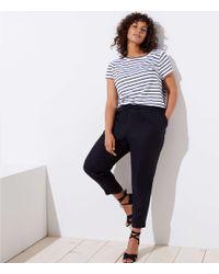 LOFT - Plus Slim Drawstring Trousers - Lyst
