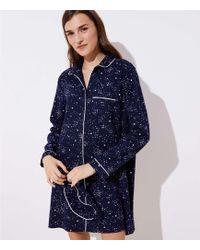 LOFT - Star Pyjama Dress - Lyst