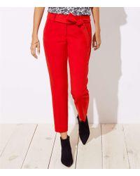 LOFT - Slim Tie Waist Pencil Pants In Julie Fit - Lyst