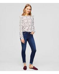 LOFT - Modern Skinny Crop Jeans In Rich Dark Indigo Wash - Lyst