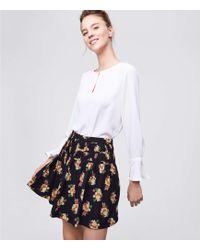LOFT - Bouquet Shirred Skirt - Lyst