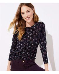LOFT - Bouquet Sweater - Lyst