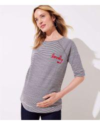 LOFT - Maternity Lovely Striped Vintage Soft Sweatshirt Tee - Lyst