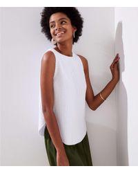 LOFT - Petite Shirttail Sweater Tank - Lyst