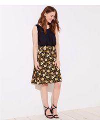 LOFT - Daisy Fluid A-line Skirt - Lyst