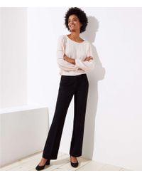 LOFT - Petite Trousers In Doubleweave In Marisa Fit - Lyst