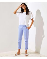 LOFT - Tall Girlfriend Chinos - Lyst