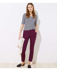 LOFT - Petite Skinny Button Cuff Ankle Trousers In Marisa Fit - Lyst