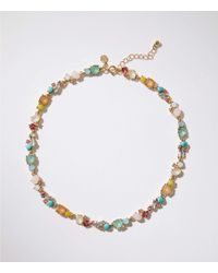LOFT - Mixed Crystal Stone Necklace - Lyst