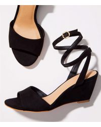 LOFT - Ankle Strap Wedge Sandals - Lyst