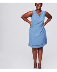 LOFT - Plus Lacy V-neck Flare Dress - Lyst
