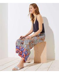 LOFT - Boho Mosaic Fluid Drawstring Pants - Lyst