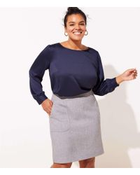 LOFT - Plus Pocket Shift Skirt - Lyst