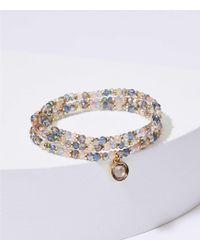LOFT - Stone Bead Stretch Bracelet - Lyst