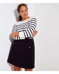 LOFT - Plus Button Pocket Shift Skirt - Lyst