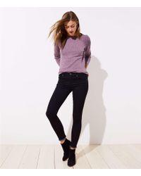 LOFT - Modern Frayed Skinny Jeans In Black - Lyst