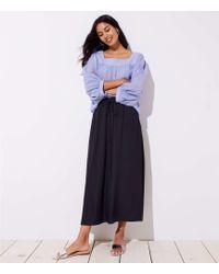 LOFT - Petite Slit Drawstring Pocket Maxi Skirt - Lyst