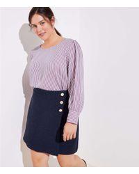 LOFT - Plus Button Wrap Skirt - Lyst