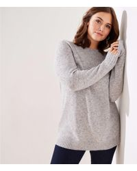 e77d27aa2a5 LOFT - Plus Speckled Boatneck Tunic Sweater - Lyst