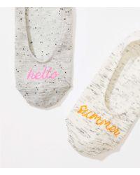LOFT - Hello Summer No Show Sock Set - Lyst