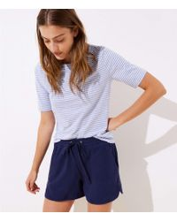 LOFT - Textured Drawstring Shorts - Lyst