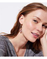 LOFT - Double Stone Drop Earrings - Lyst