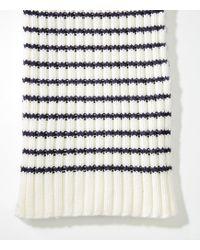 LOFT - Striped Knit Scarf - Lyst