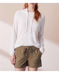 LOFT - Lou & Grey Garment Dye Poplin Drawstring Shorts - Lyst
