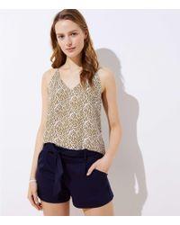 LOFT - Petite Knit Tie Waist Shorts - Lyst