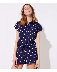 LOFT - Dotted Pajama Set - Lyst