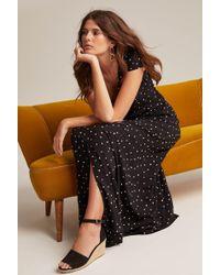 72bd690498 Long Tall Sally - Tall Half Moon Printed Button Maxi Dress - Lyst