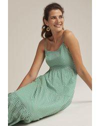 Long Tall Sally Tall Striped Cotton Day Maxi Dress - Green