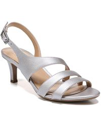 Naturalizer - Taimi Metallic Leather Slingback Sandals - Lyst