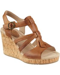 Sperry Top-Sider - Dawn Day Leather Wedge Sandals - Lyst
