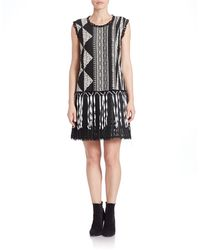 Anna Sui - Fringed -jacquard Dress - Lyst