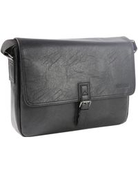Kenneth Cole Reaction - Pu Single Gusset Flapover 15 In. Computer Messenger Bag - Lyst