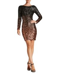 Dress the Population - Lola Ombre Sequined Bodycon Dress - Lyst