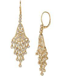 Morris & David - Diamond And 14k Yellow Gold Drop Earrings, 2.27 Tcw - Lyst