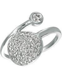 Morris & David - Diamond 14k White Gold Circle Ring, 0.51 Tcw - Lyst