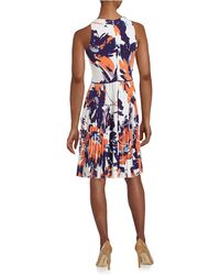 Maggy London - Floral Fit-and-flare Dress - Lyst