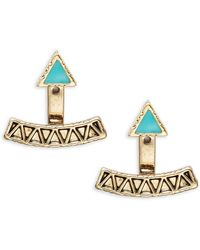 House of Harlow 1960 Textured Triangle Ear Jacket Studs