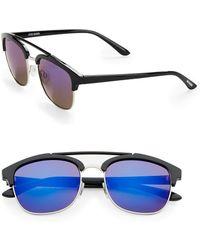 Steve Madden - 51mm Square Aviator Sunglasses - Lyst