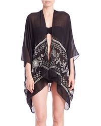 Sol & Mer | Ruana Embroidered Cover-up | Lyst