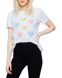Sub_Urban Riot - Candy Hearts Loose Tee - Lyst