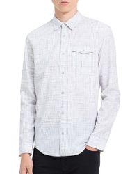 Calvin Klein Jeans - Regular Fit Checked Cotton Shirt - Lyst