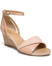Franco Sarto - Deirdra Leather Wedge Sandals - Lyst
