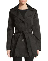 Via Spiga - Single Breasted Pleated Trench Coat - Lyst
