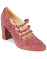 Isaac Mizrahi New York - Emery Suede Mary Jane Court Shoes - Lyst