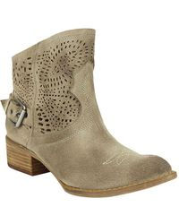 Naughty Monkey - Zoey Suede Booties - Lyst