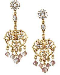 Badgley Mischka - Chandelier Earrings - Lyst